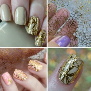 Manufactory for Embossed 3D Nail Stickers Art Stickers Decals pictures & photos
