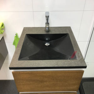 Single or Double Sink&Basin Made of Natural Black Granite pictures & photos