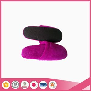 Purple Coral Fleece with Textile Sole Bread Slipper pictures & photos
