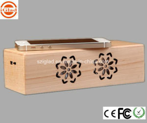 High Quality Wooden Sensor Induction Touch Mobile Speaker pictures & photos