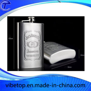 Customized Stainless Steel Flagon Hip Flask (WB-02) pictures & photos