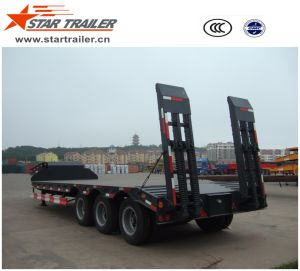 3axles 60ton Lowboy Semi Trailer pictures & photos