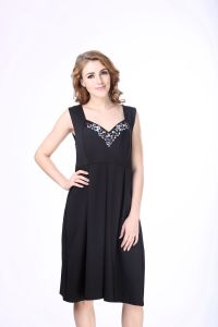 Ladies Black Western Designs Evening Sexy Prom Beaded Dress for Girls pictures & photos