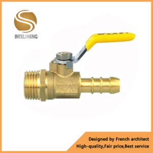 Thread 3/4′′ Brass Gas Ball Valves with Steel Handle pictures & photos