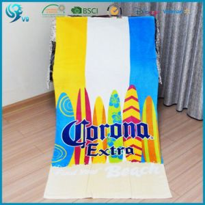 100% Cotton Velour Terry Printed Logo Design Promotional Towel pictures & photos