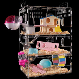 Custom Square Hamster Cage Acrylic Pet House pictures & photos