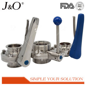 Sanitary Stainless Steel Pull Handle Welding Butterfly Valve pictures & photos