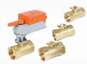 Dn40 1.1/2′′ Electric Actuated Motorised Globe Modulating Porportional Ball Valve pictures & photos