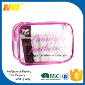 Transparent Clear PVC Travel Cosmetic Bag for Promotion