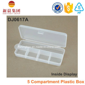 5 Compartment Transparent Fishing Lure Box pictures & photos