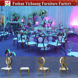 Luxury Gold Wedding Infiniti Stainless Steel Legs Dining Chair (YC-ZS39) pictures & photos