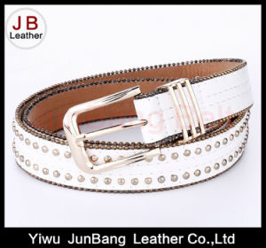 fashion Women PU Belt with Bradde Chain