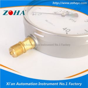Shock Resistance Manometer with Stainless Steel Case Oil Fill-Able pictures & photos