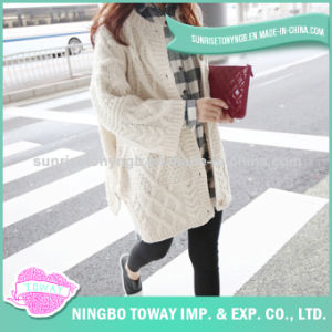 High Quality Hand Knitting Cotton Wool Cardigan Sweater pictures & photos