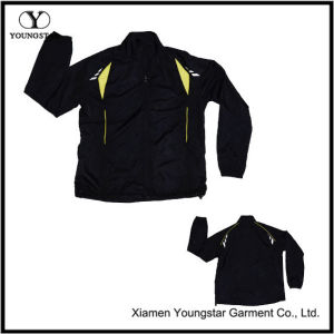 Black Polyester Sports Sporty Sport Jacket for Men pictures & photos