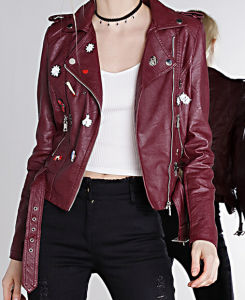 Cultivate One′s Morality Fake Leather Shorts Jacket Puj0704 pictures & photos