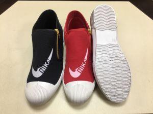 Vulcanized Shoes PVC out Sole Casual Canvas Kids Shoes pictures & photos