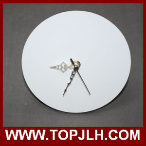 Blank White Light MDF Hardboard Sublimation Clock pictures & photos