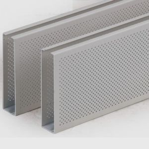 Aluminum Roll Formed Baffle Ceiling For Interior Decoration Material pictures & photos