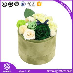 Printed Custom Cylinder Packaging Flower Round Paper Box pictures & photos