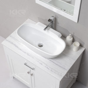 Oval Countertop Bathroom Wash Basin for Dining Room pictures & photos