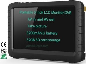 Portable 5 Inch Wireless Real Time Display Motion Detect Video Audio DVR Monitor Te968h pictures & photos