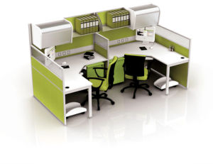 Modern Aluminum Glass Wooden Cubicle Workstation / Office Partition (NS-NW014) pictures & photos