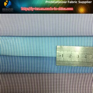 Slallow Gird Polyester/Cotton Yarn Dyed Fabric for Casual Shirt pictures & photos