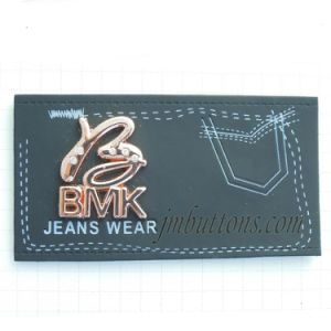 Custom Print Logo PU Labels for Jeans Denim pictures & photos