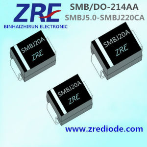 600W Surface Mount Smbj5.0 Thru Smbj220ca Tvs Diode SMB/Do-214AA Package pictures & photos