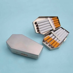 Customized Irregular Shape Stainless Steel Cigarette Case for 10 Pack BPS0187 pictures & photos