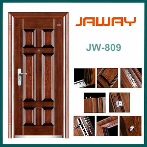 China Steel Door Factory Cheap Price Long Use Life Nice Design Interior Steel Security Door Lock Set pictures & photos