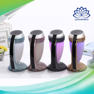 HiFi Desk Lamp Multimedia Bluetooth Mini Speaker with Portable Colorful Mood Light pictures & photos