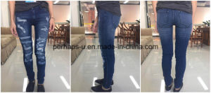Wholesale High Quality Women Ripped Jeans pictures & photos