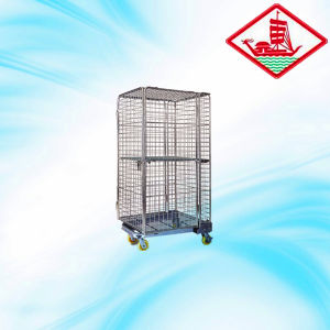 High Quality Roll Container with Folding Door pictures & photos