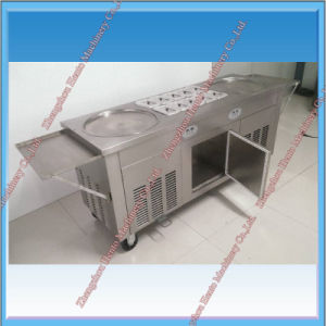 High Efficiency Flat Pan Thailand Fried Ice Cream Machine pictures & photos