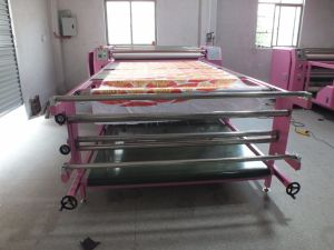 Multi Functional 600mm*1.2m Oil Based Roll to Roll Sublimation Heat Transfer Machine with Imported DuPont Blanket pictures & photos