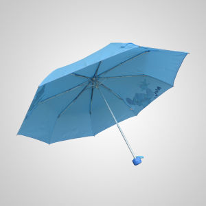3 Fold manual Promotional Rain Umbrella (JF-MMO308) pictures & photos
