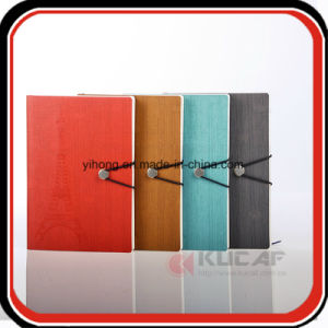 Metal Button Closure Debossed PU Diary Notebook pictures & photos