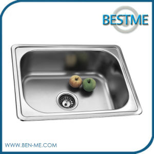 Single Bowl Kitchen Stainless Steel Sink (BS-638) pictures & photos