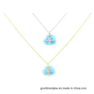 925 Silver High Quality Opal CZ Stone Necklace (N6593) pictures & photos