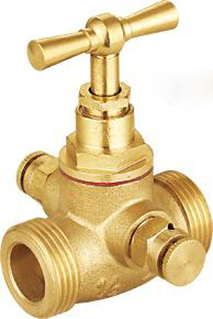 Male Thread Cartridge Connection Brass Stop Valve pictures & photos