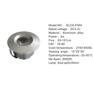 3W Decorative Recessed Under LED Cabinet Light for Kitchen (SLCG-F004) pictures & photos