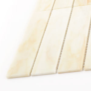 Hand Cut Building Material Beige Glass Tile Sheets Stained Mosaic pictures & photos