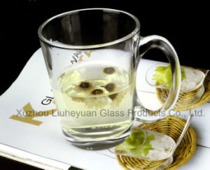 330ml Water Clear Glass Cup with Handle pictures & photos