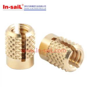 Press-in Inserts Brass Knurled Nuts pictures & photos