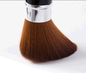 Single Synthetic Brown Hair Black Ferrule Kabuki Cosmetic Brush pictures & photos