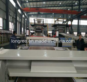 PVC Floor Spc Floor Extrusion Line with UV Coating Line pictures & photos
