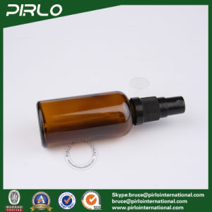 50ml Amber Refillable Glass Spray Bottles with Black Fine Plastic Mist Sprayer pictures & photos