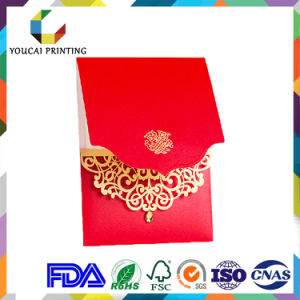 Customized Paper Wedding Invitations Cards with Laser Engraving Decoration pictures & photos